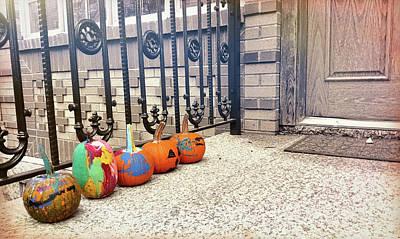 Photograph - Pumpkin Line-up by JAMART Photography