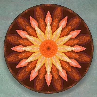 Pumpkin Mandala -  Art Print