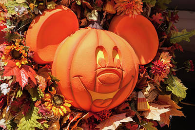 Photograph - Pumpkin Mickey by Pamela Williams