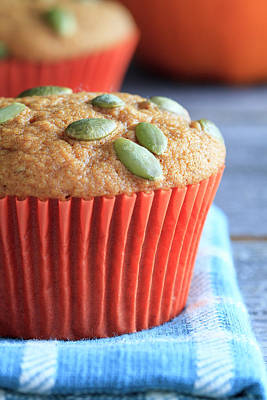Photograph - Pumpkin Muffins Close Up by Teri Virbickis