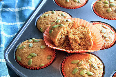 Photograph - Pumpkin Muffins For You by Teri Virbickis
