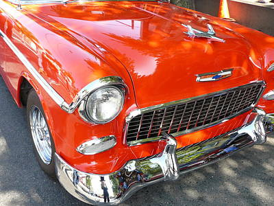 Photograph - Cuba Pumpkin Orange Chevy by Donna Starr