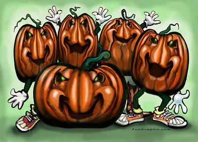Pumpkin Party Art Print by Kevin Middleton