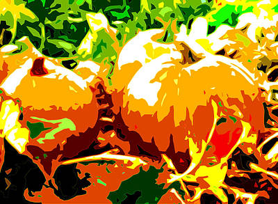 Pumpkin Patch Abstract Art Print