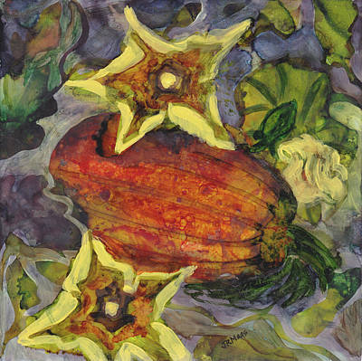 Painting - Pumpkin Patch Blossoms by Julie Maas
