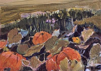 Painting - Pumpkin Patch by Diane Ursin