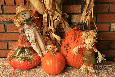 Photograph - Pumpkin Patch Kids by Frank Townsley
