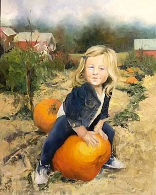 Painting - Pumpkin Patch by Lori Ippolito