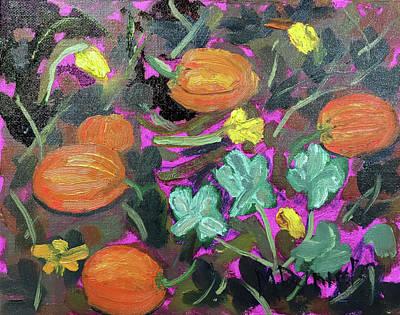 Painting - Pumpkin Patch by Michael Daniels