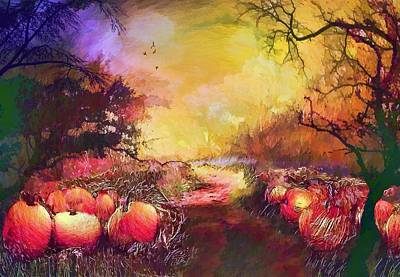 Painting - Pumpkin Patch by Valerie Anne Kelly
