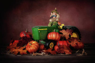Pumpkin Photograph - Pumpkin Patch Whimsy by Tom Mc Nemar