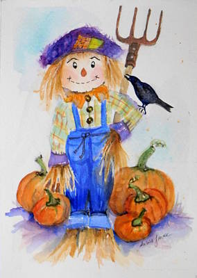 Painting - Pumpkin Phil by Anna Jacke