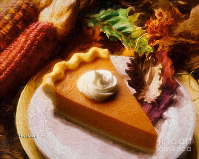 Pumpkin Pie Art Print by Garland Johnson