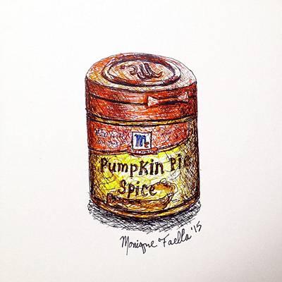 Drawing - Pumpkin Pie Spice by Monique Faella