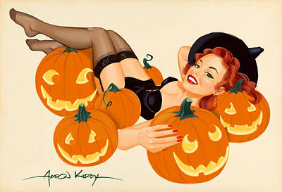 Pumpkin Pin Up Art Print