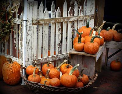 Watercolor Butterflies - Pumpkin Pleasures by Linda Mishler