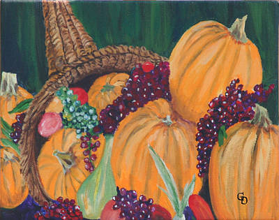 Gail Daley Wall Art - Painting - Pumpkin Plenty by Gail Daley