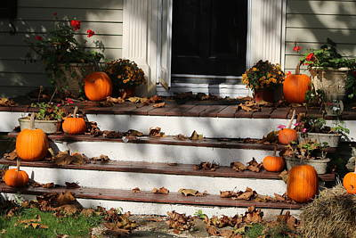 Photograph - Pumpkin Porch by Living Color Photography Lorraine Lynch
