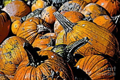 Pumpkin Sale  Art Print by Juls Adams