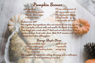 Digital Art - Pumpkin Scones Recipe by Ruth Moratz