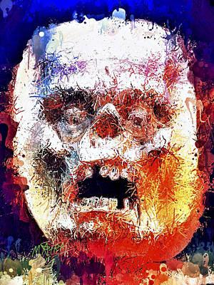 Mixed Media - Pumpkin Scream by Al Matra