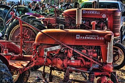Farmall Tractor Photograph - Pumpkin Season by Kevin  Sherf
