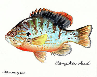 Painting - Pumpkin Seed Fish by LeAnne Sowa