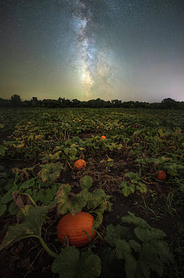 Photograph - Pumpkin Space  by Aaron J Groen