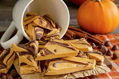 Photograph - Pumpkin Spice Bark Candy by Teri Virbickis
