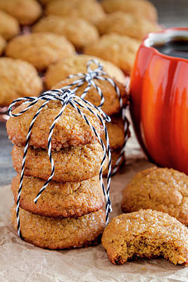 Photograph - Pumpkin Spice Cookies And Coffee by Teri Virbickis