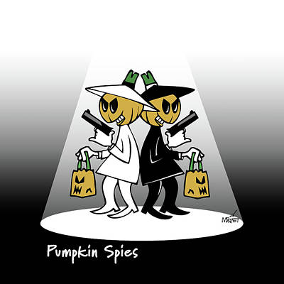 Digital Art - Pumpkin Spies by Mike Martinet