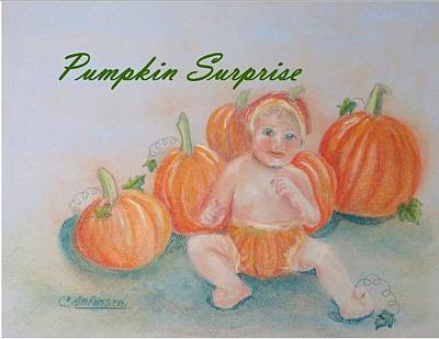 Drawing - Pumpkin Surprise by Carol Allen Anfinsen