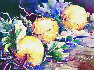 Painting - Pumpkin Time by Connie Williams