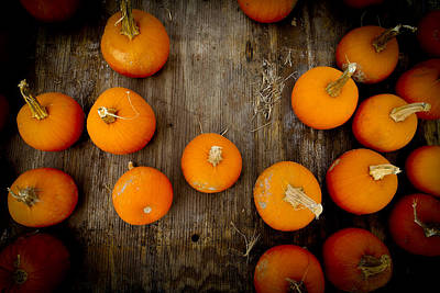 Photograph - Pumpkin Tops by Marisela Mungia