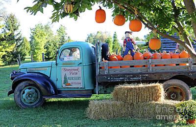 Pumpkin Truck Art Print by Steve Gass