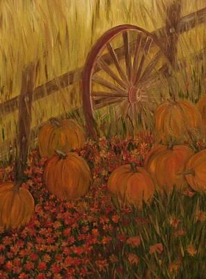 Pumpkin Wheel Art Print by Shiana Canatella