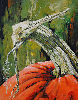 Painting - Pumpkin1 by Chris Steinken