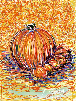 Pumpkinlets Art Print by Robert Yaeger