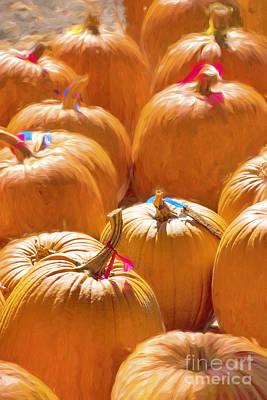 Global Design Shibori Inspired - Pumpkins #1 by George Robinson