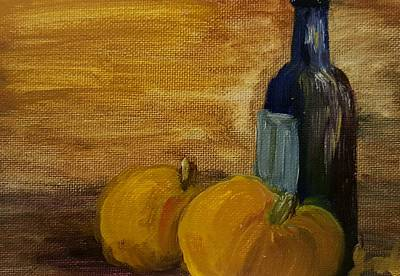 Painting - Pumpkins And Wine  by Steve Jorde