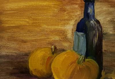 Painting - Pumpkins And Wine  by Steve Jorde