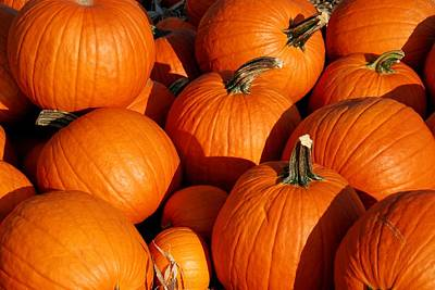 Photograph - Pumpkins by Angie Tirado