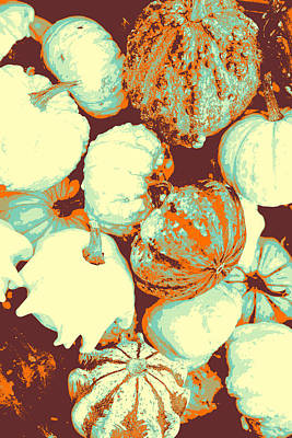 Tapestries Textiles Pyrography - Pumpkins by Artistic Panda