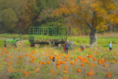 Mcentee Painting - Pumpkins At Langwater Farm by Bill McEntee