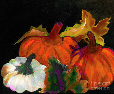 Digital Art - Pumpkins For Halloween Or Thanksgiving By Lisa Kaiser by Lisa Kaiser