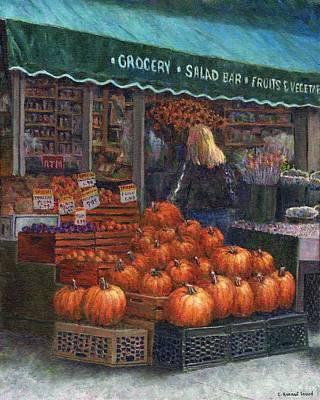 Vegetable Oil Painting - Pumpkins For Sale by Susan Savad