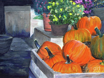Painting - Pumpkins In Glover by Donna Walsh