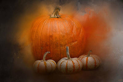 Photograph - Pumpkins In October by Jai Johnson