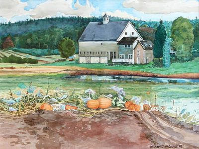 Painting - Pumpkins In The Field by Michael McDougall