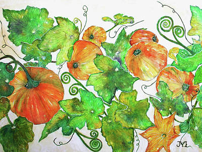 Painting - Pumpkins by Janet Immordino